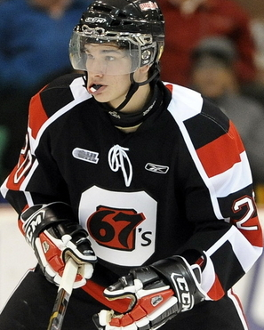 Sean Monahan of the Ottawa 67's. Photo by Aaron Bell/OHL Images
