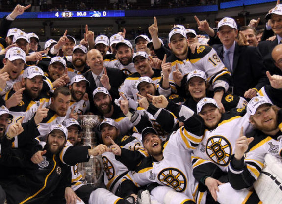 Bruins winning the Stanley Cup