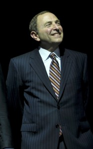 NHL Commissioner Gary Bettman (cr: VancityAllie@flickr)