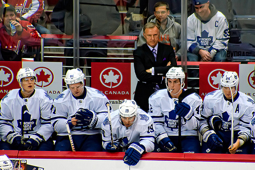 3cc8da0929c Ron Wilson coaching the Toronto Maple Leafs. (clydeorama/Flickr)