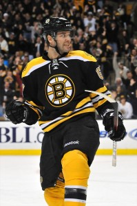 New York Rangers forward Benoit Pouliot with the Boston Bruins in 2011