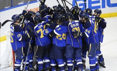 Blues Defeat Sharks and Clinch Series on Home Ice