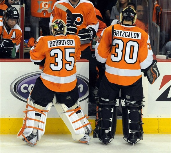 Bobrovski and Bryzgalov of the Flyers
