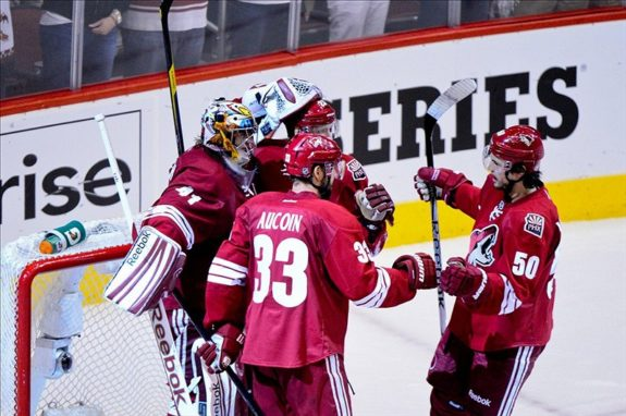 Antoine Vermette Adrian Aucoin Mike Smith