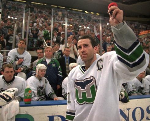 Kevin Dineen in his last game as a Hartford Whaler.