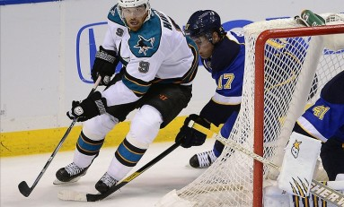 Three Goals and a Cloud of Ice: Sharks Beat Blues in Double OT, Take Game One
