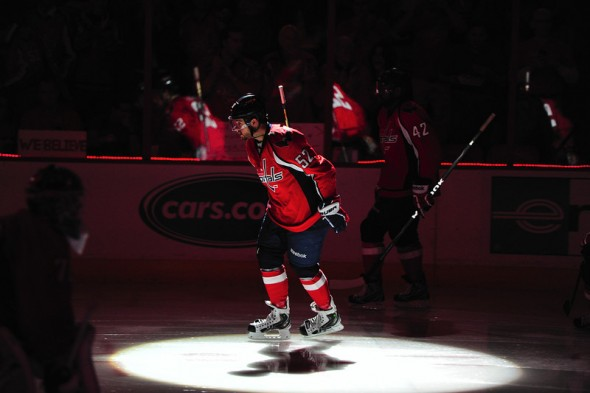 Mike Green takes the ice in Game 6