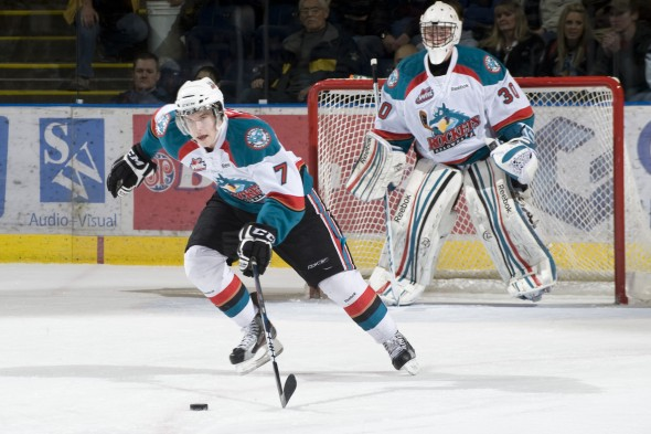 Damon Severson scored 36 goals in four seasons with Kelowna. (Marissa Baecker/shootthebreeze.ca)