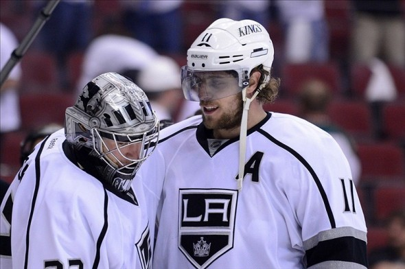 Anze Kopitar and Jonathan Quick