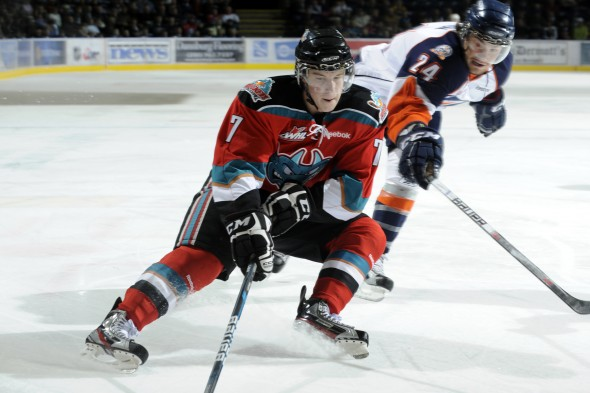 20-year-old Damon Severson is making the jump to the NHL after four seasons with Kelowna in the WHL. (Marissa Baecker/shootthebreeze.ca)