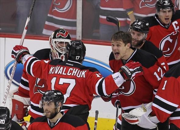 Alexei Ponikarovsky devils win in overtime