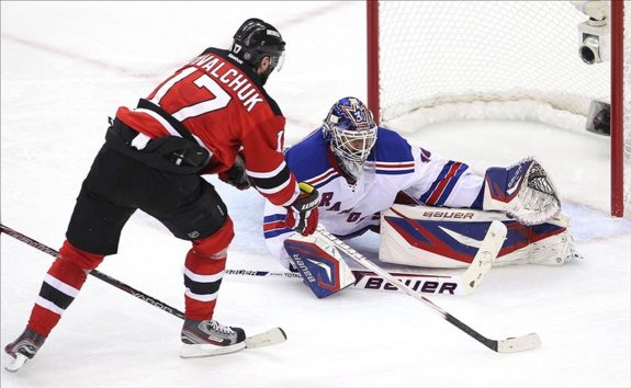 Kovalchuk stopped as Lundqvist beats Devils