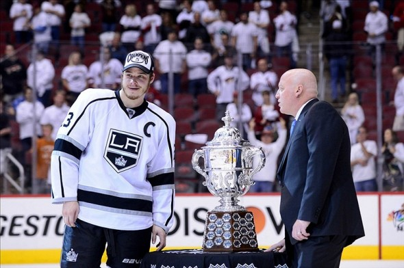 "If choosing a captain were based on a team's ""best player,"" would the Los Angeles Kings have won two Stanley Cups like they have under captain Dustin Brown (above)?"