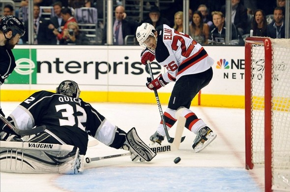 Patrik Elias is one of only a few forwards that shouldn't worry about his roster spot. (Jayne Kamin-Oncea-US PRESSWIRE)
