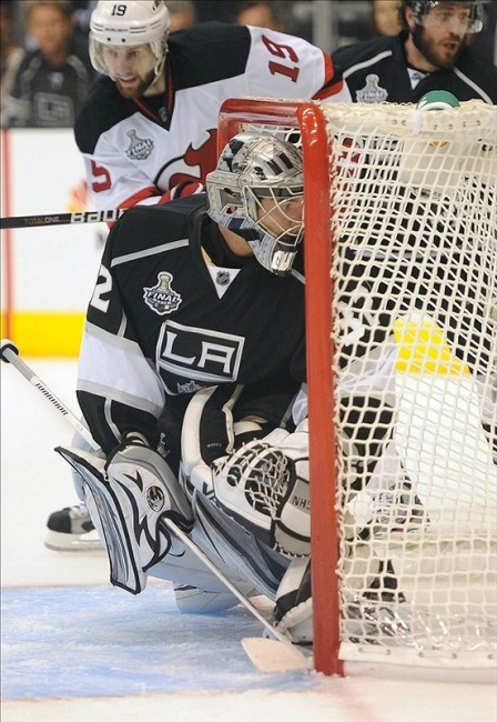 Jonathan Quick has to be considered a favorite to take home the Vezina this year. (Jayne Kamin-Oncea-US PRESSWIRE)