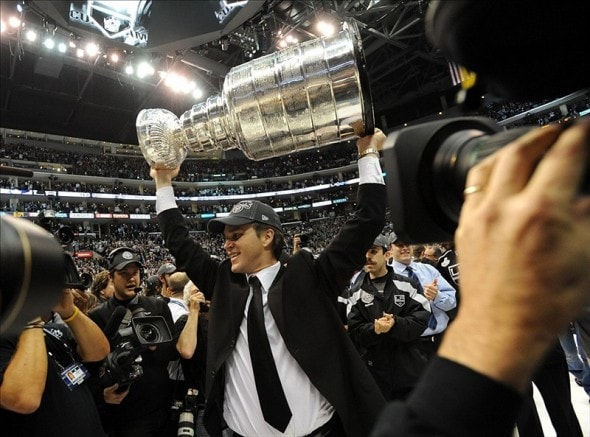 Luc Robitaille will be honored with statue in his likeness at Staples Center. (Jayne Kamin-Oncea-US PRESSWIRE)