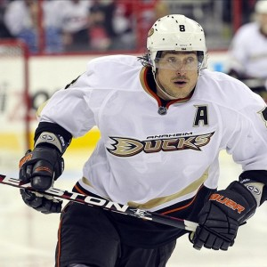 Teemu Selanne of the Anaheim Ducks