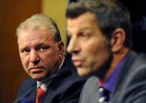 Montreal Canadiens general manager Marc Bergevin and head coach Michel Therrien