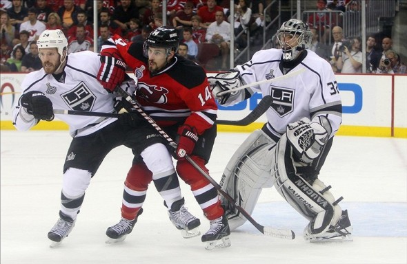 Adam Henrique has been in the middle of most of the Devils best games this season. (Ed Mulholland-US PRESSWIRE)