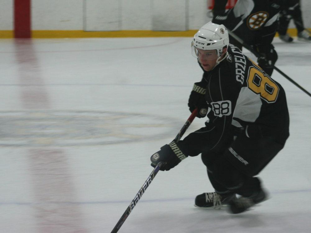 Matt Grzelcyk at the Boston Bruins 2012 Development Camp. (Photo: Amanda Mand)