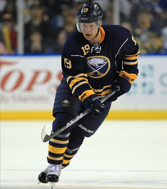 Cody Hodgson was bought out by the Sabres after a poor 2014 season. (Kevin Hoffman-US PRESSWIRE)