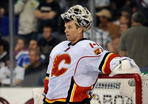 Miikka Kiprusoff cited family reasons for rejecting a trade to Toronto. (Jerome Miron-US PRESSWIRE)