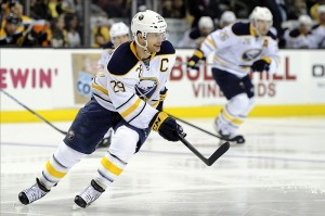 Jason Pominville would hold captain role from 2011 - 2013 (Bob DeChiara-US PRESSWIRE)