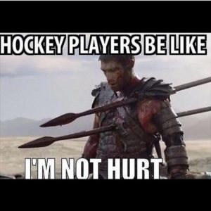 Hockey players are tough