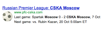 The first result that comes up in Google for CSKA Moscow: Bryzgalov's team