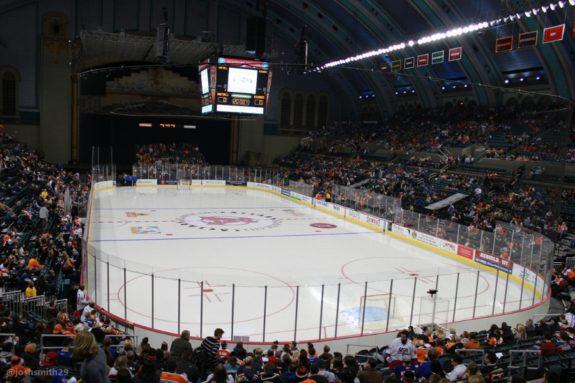 Boardwalk Hall prepares for hockey (Josh Smith/THW)