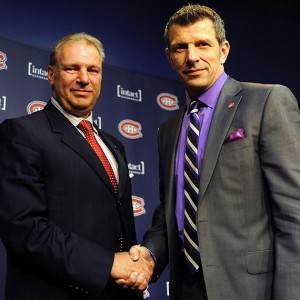 Montreal Canadiens general manager Marc Bergevin and Michel Therrien