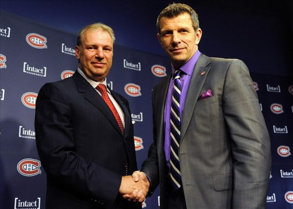 Ex-Montreal Canadiens head coach Michel Therrien and current Habs general manager Marc Bergevin