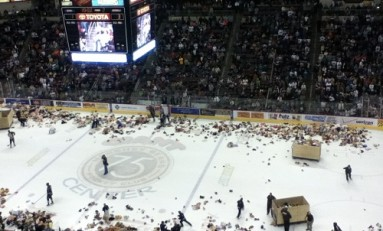 Teddy Bear Toss: 12,000 Bears in the Air