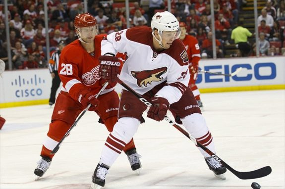 Phoenix Coyotes Forward Lauri Korpikoski Will Compete For Team Finland (Rick Osentoski-USA TODAY Sports)