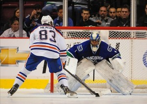 Roberto Luongo of the Vancouver Canucks