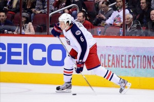 Nikita Nikitin is in his second season with the Blue Jackets (Matt Kartozian-USA TODAY Sports)
