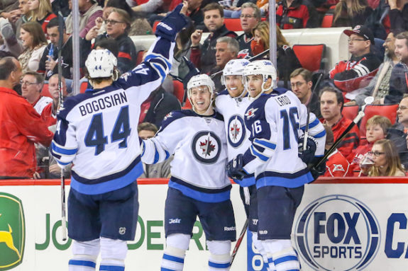 Winnipeg Jets celebrate