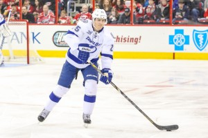 (Photo By Andy Martin Jr) Tampa Bay blue-liner Matt Carle could end up on the trading block as a result of the Lightning's defensive depth.