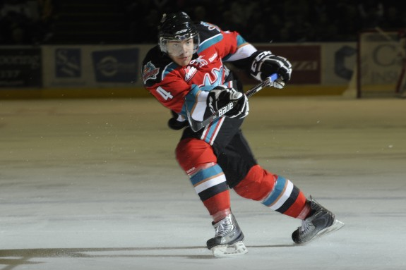 (Shoot the Breeze Photography) Defenceman Madison Bowey, a Washington Capitals prospect,will captain the Kelowna Rockets as our choice to capture the WHL championship this season.