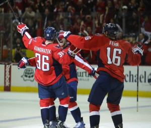Eric Fehr scored in OT last evening at the Verizon center. Tom Turk/THW
