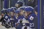 Marlboros' Captain Mitchell Stephens looks on from the bench at the 2013 OHL Cup (Photo by Brendan Ross/The Scouting Bureau)