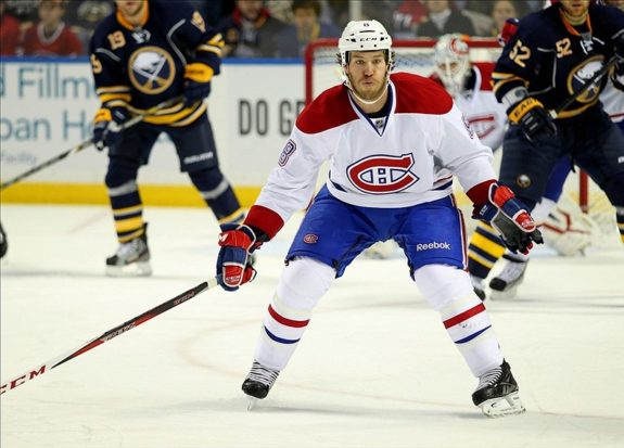 Brandon Prust shot blocking canadiens