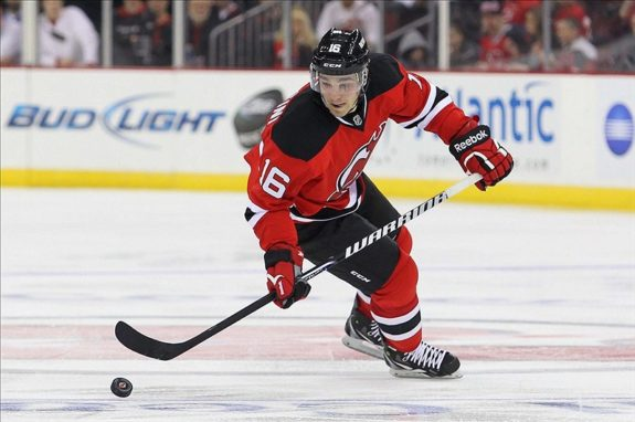 D'Agostini is the third Devils player to wear #16 this season (Ed Mulholland-USA TODAY Sports)