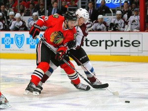 Brandon Saad, drafted 43 overall by the Chicago Blackhawks