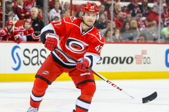 Carolina Hurricanes MARC-ANDRE BERGERON - Photo By Andy Martin Jr