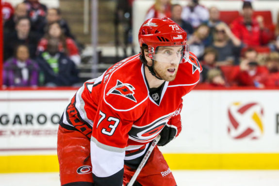 Carolina Hurricanes BRETT BELLEMORE - Photo by Andy Martin Jr