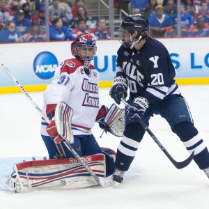 Connor Hellebuyck was brilliant in the NCAA, earning the Mike Richter Award in 2014.