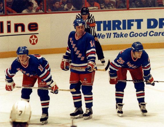 Mullen, Hardy, and Ogrodnick in 1991 (Joe Schilp, Jr./Flickr)
