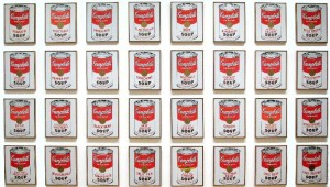 Any Warhol's famous Campbell's Soup Can pop-art from 1962.