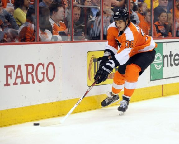 Oliver Lauridsen and his 15 prior NHL games from the 2012-13 season could be called upon to replate Timonen.